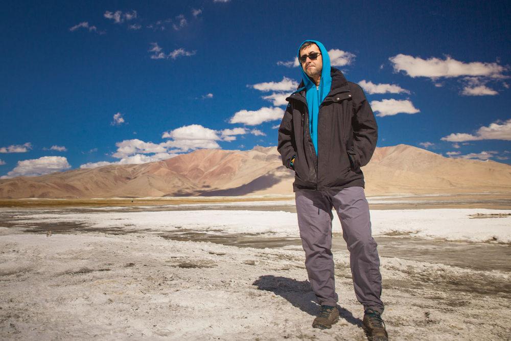 Divyanshu at Tso Kar, Ladakh, 2016. Photograph by Amrit Vatsa.